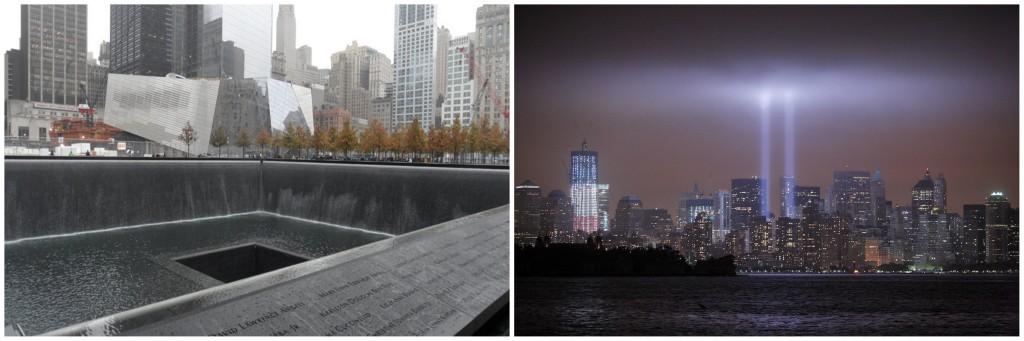 世贸大厦911遗址(图片来源:维基百科、新华社)